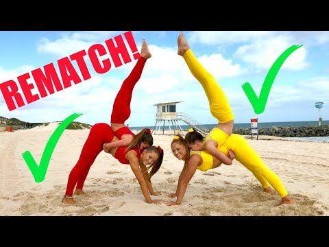 Big Sisters Vs Little Sisters Extreme Yoga Challenge Rematch Youtube Yoga Challenge Yoga Challenge Poses Partner Yoga Poses