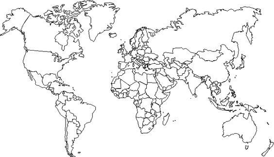 carte du monde vierge, Europe, Monde, Carte du monde