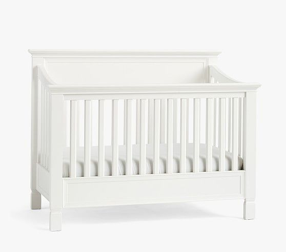 Larkin 4 In 1 Convertible Baby Crib Pottery Barn Kids In 2020 Cribs Convertible Crib Platform Mattress