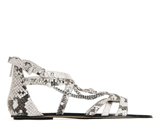 Dolce Vita Leather upper Silver ornamentation Heel height .25 / 6mm Buckle closure