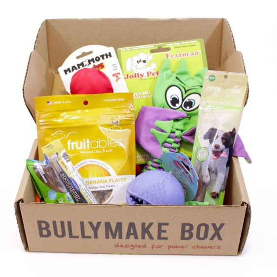 Reviewing Bullymake Box for December 2015, A Monthly Pet Subscription Box for Power Chewers!