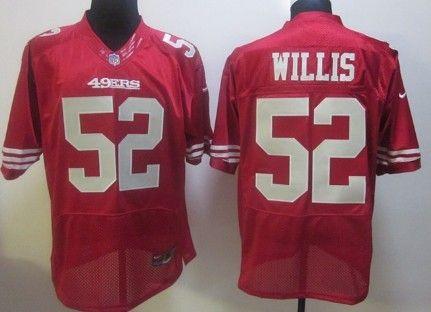 Nike San Francisco 49ers #52 Patrick Willis Red Elite Jersey
