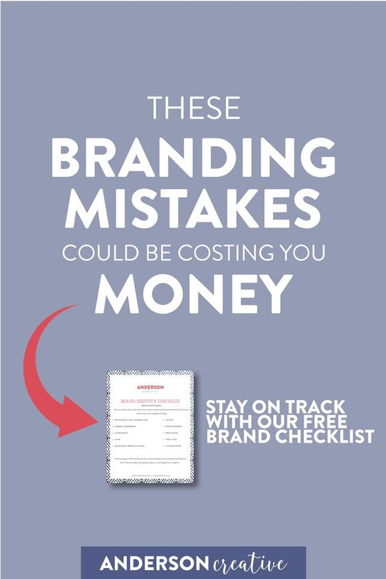 These 7 branding mistakes could be costing you serious bank. Learn the biggest mistakes and how to avoid them. // Anderson Creative Co