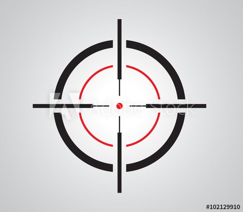 Crosshair Reticle Viewfinder Target Graphics In 2021 Graffiti Images Sniper Target Image