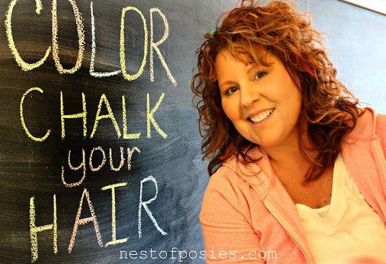 DIY Color Chalk you hair (fun temporary color)