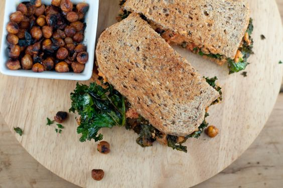 Vegan B.L.T. With Smoked Chickpeas, Kale & Hearts of Palm-Sundried Tomato Spread