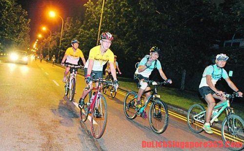 Đi xe đạp buổi tối ở Singapore - hoạt động thú vị