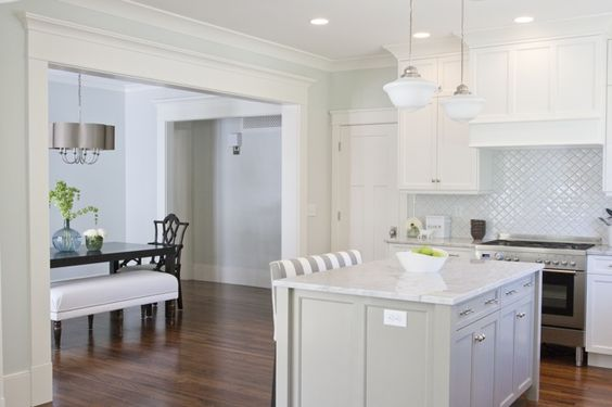 The color on the cabinets is Dune White BM and the walls Healing Aloe BM.