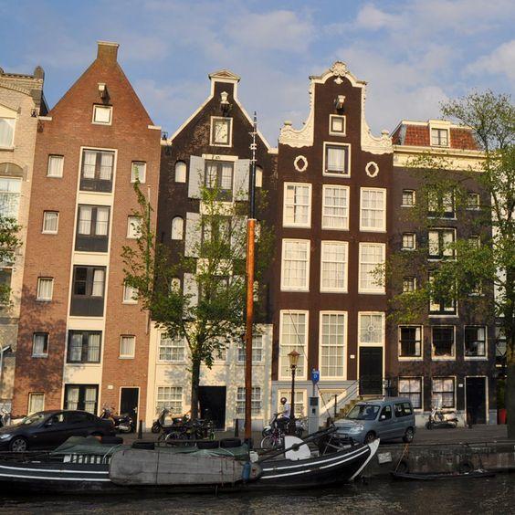 Facciate delle case di Amsterdam