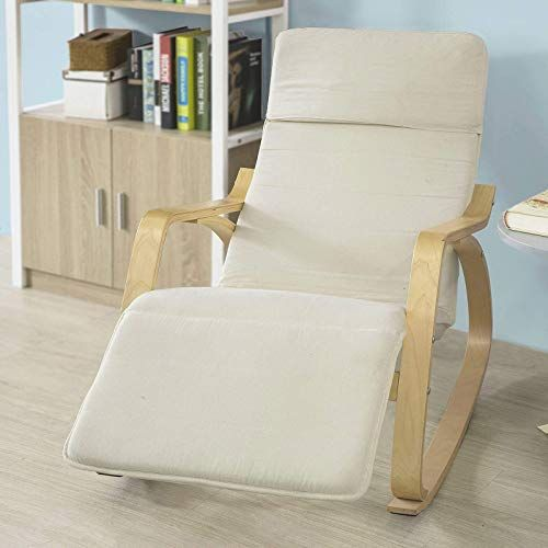 Buy Haotian Comfortable Relax Rocking Chair Foot Rest Design Lounge Chair Recliners Poly Cotton Fabric Cushion Fst16 W White Color Online With Images Rocking Chair Living Room Colors Luxury Home Furniture