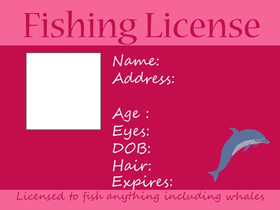 Fishing free printable and kid on pinterest for Bc fishing license