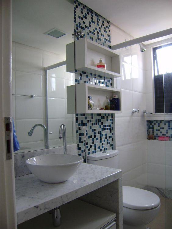 banheiros decorados pequenos  Pesquisa Google  casa  banheiro  Pinterest  -> Banheiro Decorado Masculino