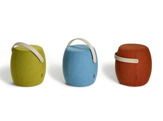 Upholstered pouf CARRY ON by Offecct   design Mattias Stenberg