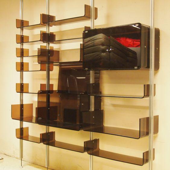 Lot : Ducaroy Michel / Ligne Roset : Bibliothèque modulable... | Dans la vente Design des Années 50 à 90  à Salle de ventes Uccle Saint-Job