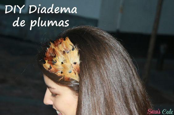 DIY Diadema de plumasDIY Diadema de plumas