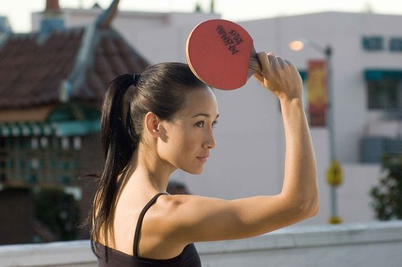 "Maggie Q in ""Balls of Fire"", that movie still makes me laugh."