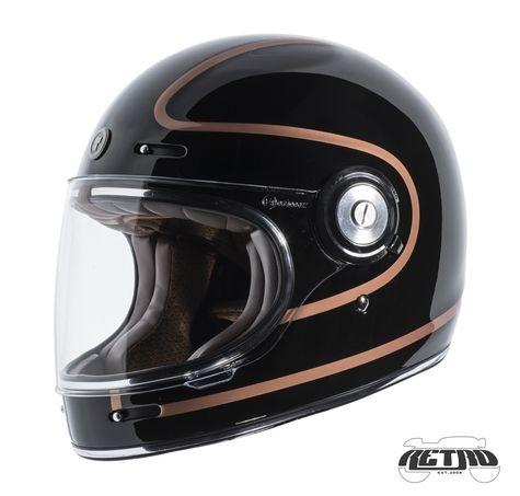 Torc T 1 Retro Full Face Moto Helmet In Copper Pin Finish Left Side Capacete Retro Capacete Capacete Moto
