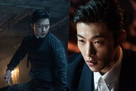 "Park Seo Joon And Ahn Sung Ki Join Forces Against Woo Do Hwan In New Photos From ""The Divine Fury"""