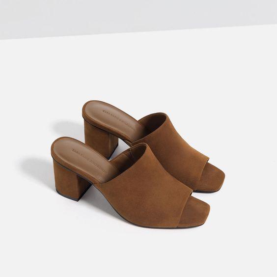 SANDALES OUVERTES AU TALON-Chaussures-Femme-COLLECTION SS16 | ZARA France