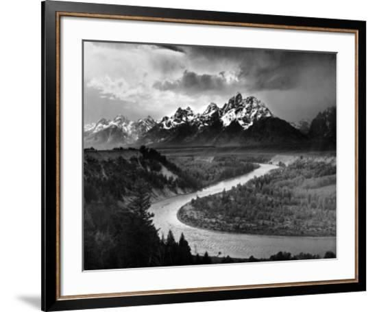 Tetons And The Snake River Grand Teton National Park C 1942 Art Print Ansel Adams Art Com National Park Posters Grand Teton National Park Framed Art Prints