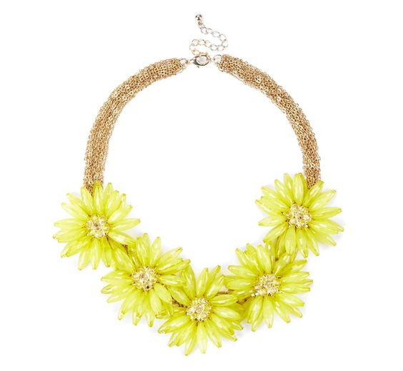 Yellow Daisy Necklace.