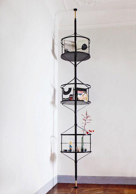 Regal Wohnzimmer schwarz Raumteiler Design