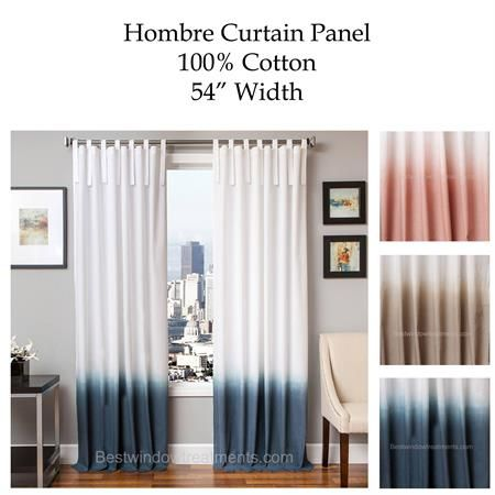 Curtains Ideas colorblock curtains : Hombre Gradient Two Tone Curtain Drapery Panels | www ...