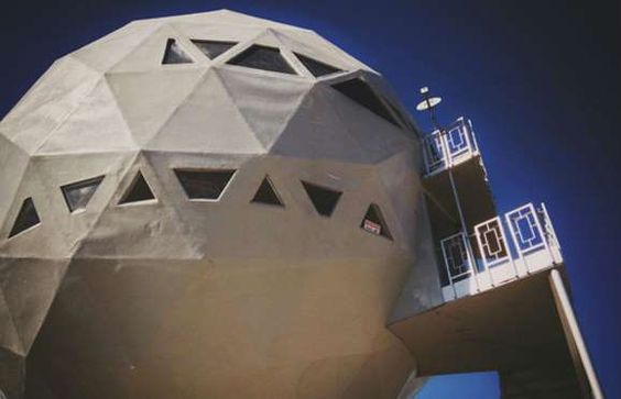 What do you get when you cross a golf ball with a spaceship? This rather bizarre-looking abode, of c... - Micah Elizabeth Scott / Flickr