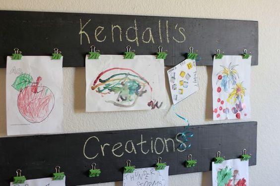 Toddler Art Display