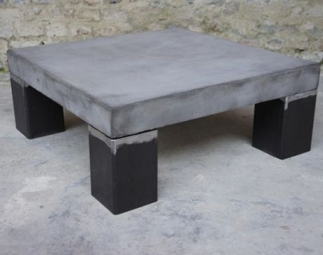 table basse beton gardens metals and design. Black Bedroom Furniture Sets. Home Design Ideas