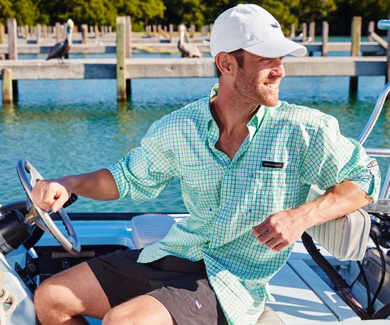 Harbor cay fishing shirt abaco grid shirts products for Fishing shirts that keep you cool