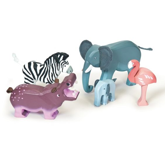 Kinder Holzspielzeug Wildnis Tierset 5-teilig