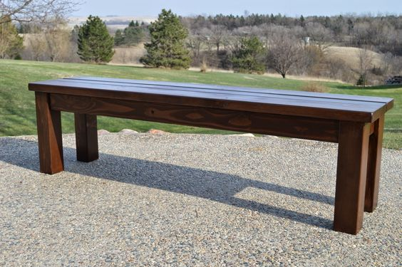 Black bench outdoor benches and workshop on pinterest for Rustic picnic table plans