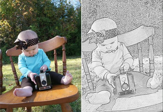 Pencil Sketch Artwork Using Picnik