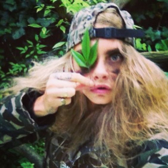 Going commando for @id_magazine #selfiechaos - @Mini C Delevingne- #webstagram