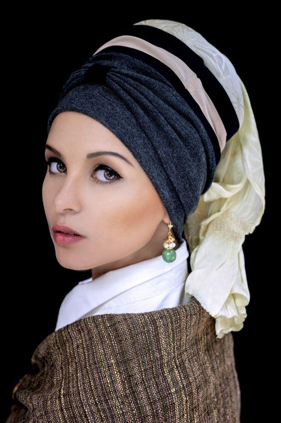 [Portrait by SAKAartisan] Girl with a Pearl Earring  photographer Jaroscha Jaroscha stylist Zoya Prosekova model Veronika Paireli Make-up artist Kitty Kittiya Anjimakorn