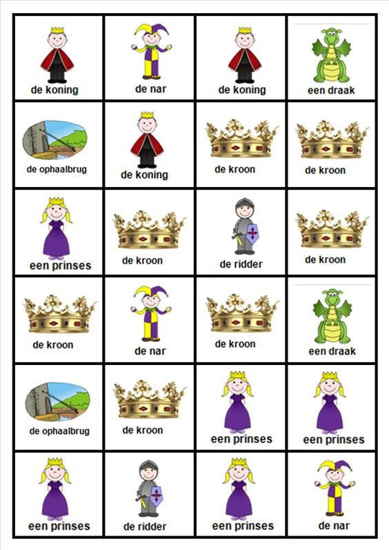 Domino thema ridders thema ridders en kastelen pinterest for Werkbladen ridders en kastelen