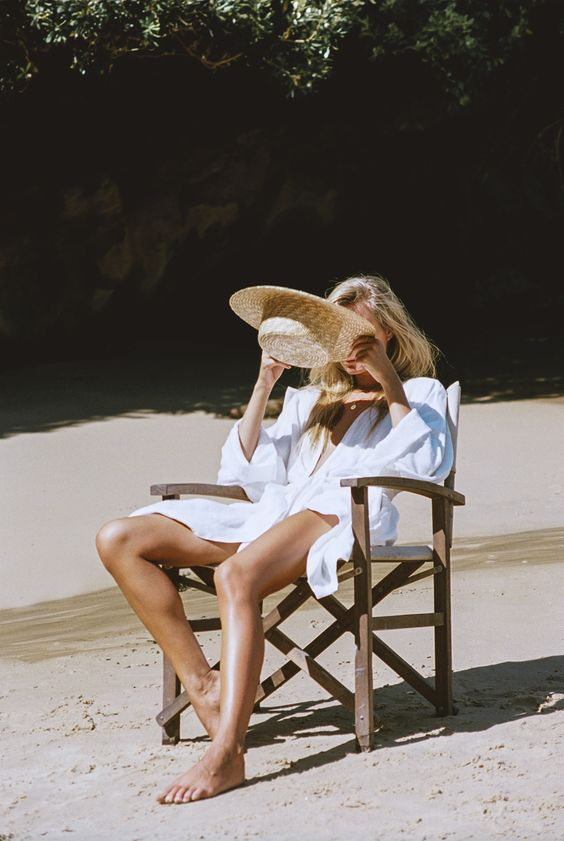 Borrow one from the boys... An oversized white shirt is the ultimate throw-on-and-go beach cover up! | image via: wolfcub chronicles