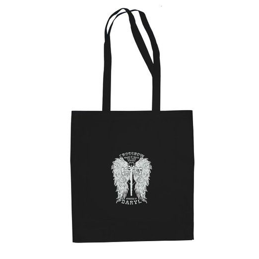 Daryl Wings - Stofftasche / Beutel, Farbe: schwarz