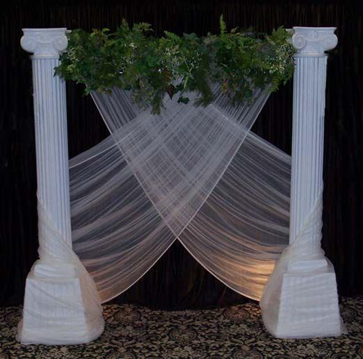 Wedding Backdrops, Backgrounds, Decorations, Columns.