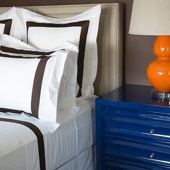 White And Brown Kids Border Bedding - Design, decor, photos ...