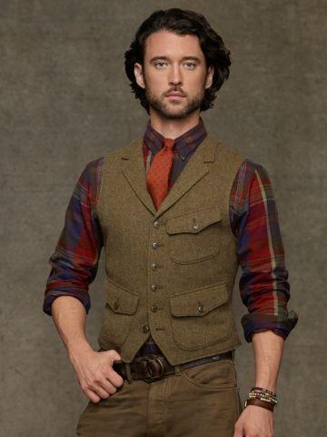 Hillsdale Tweed Vest - Polo Ralph Lauren Cloth - RalphLauren.com