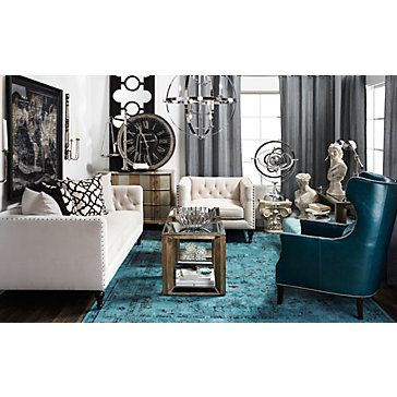 Eddie Accent Chair - Peacock | Chairs | Living-Room | Furniture