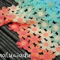 Crocheting: Crochet rainbow flower blanket