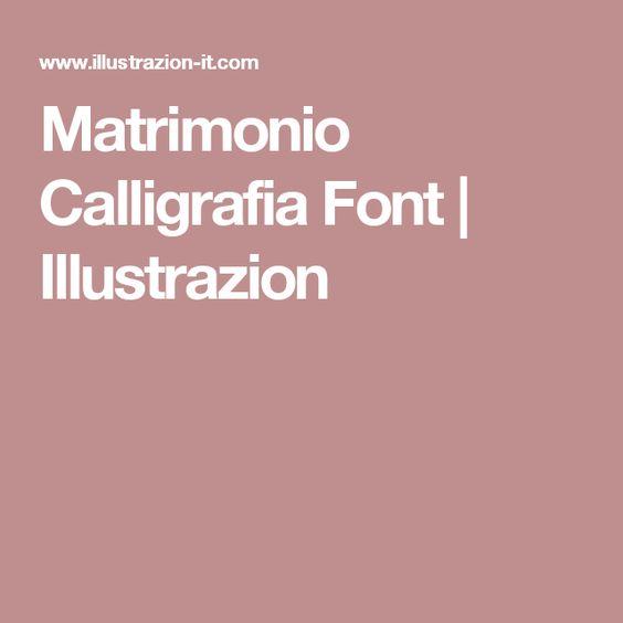 Matrimonio Calligrafia Font | Illustrazion