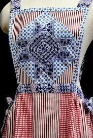 Star and stripes apron by Rachel Kanter