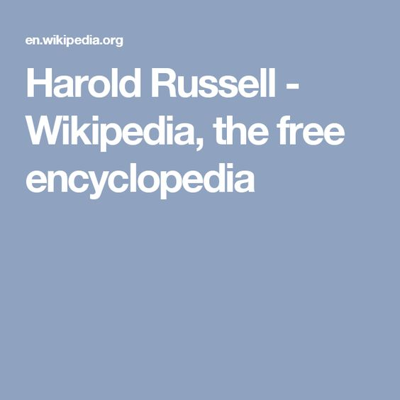 Harold Russell - Wikipedia, the free encyclopedia