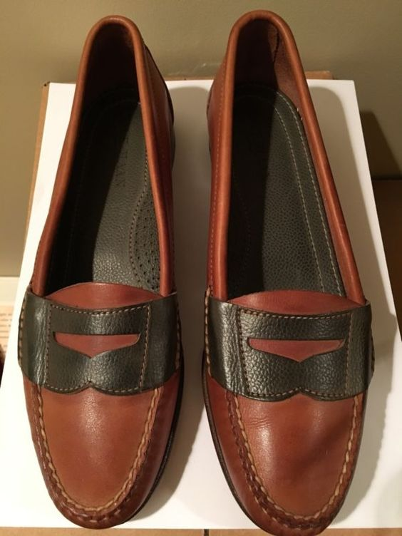 COLE HAAN Women's 8 M Brown Leather Flat Slip On Loafers Shoes NEW No box -