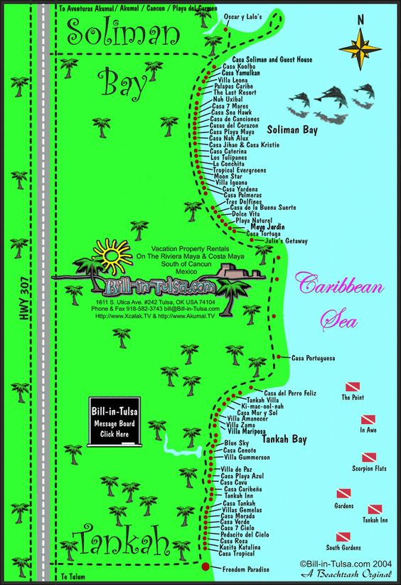 map of soliman bay and tankah bay bill in