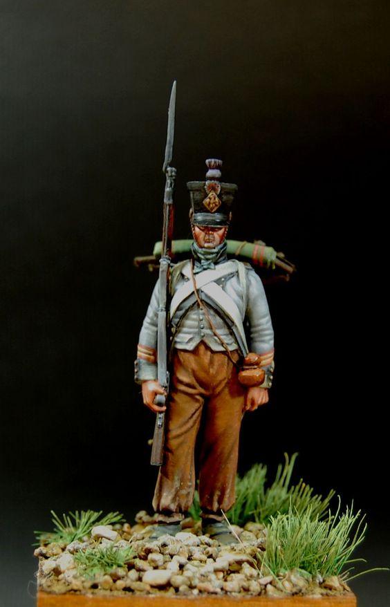 Sergant of 15 Line Rgt. in Spain, 1808. Panted by A. Lebedev.